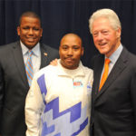 Earl Davis with former president Bill Clinton