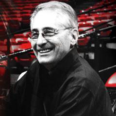 Ed Klein in stadium