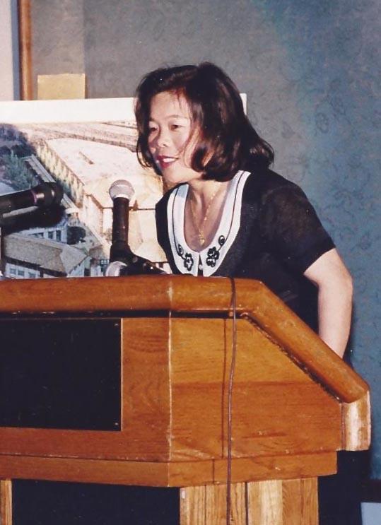 Hoang Taing Speaking in microphone