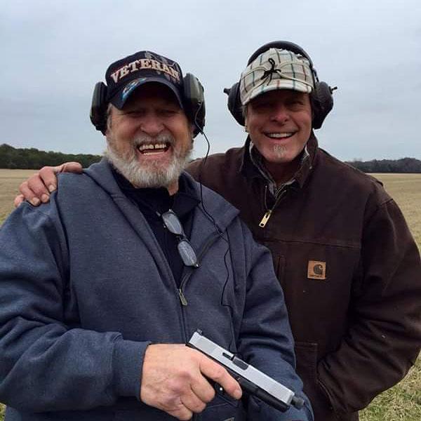 Gary O' Neal with handgun